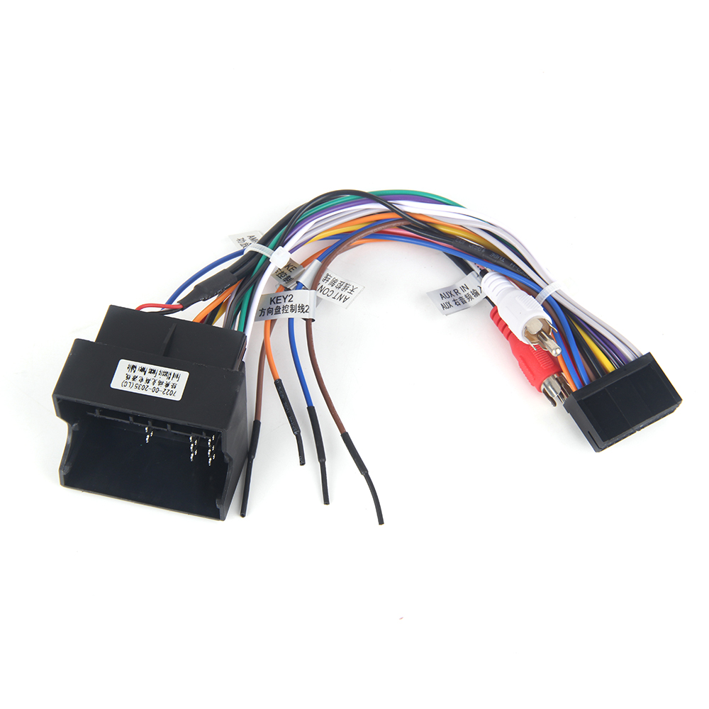 Car Stereo Iso Radio Wiring Harness Headunit Connector Loom Boss Vw Jetta Dasaita Dyx010 Dvd Auto Wire Adapter For Ford Focus 2 Fusion