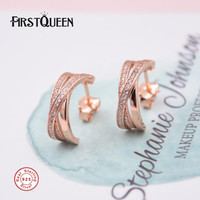 FirstQueen Rose Gold European Brand Vintage Earrings Ear Rings Brinco Feminino 2017 Christmas Gift Fine Jewelry