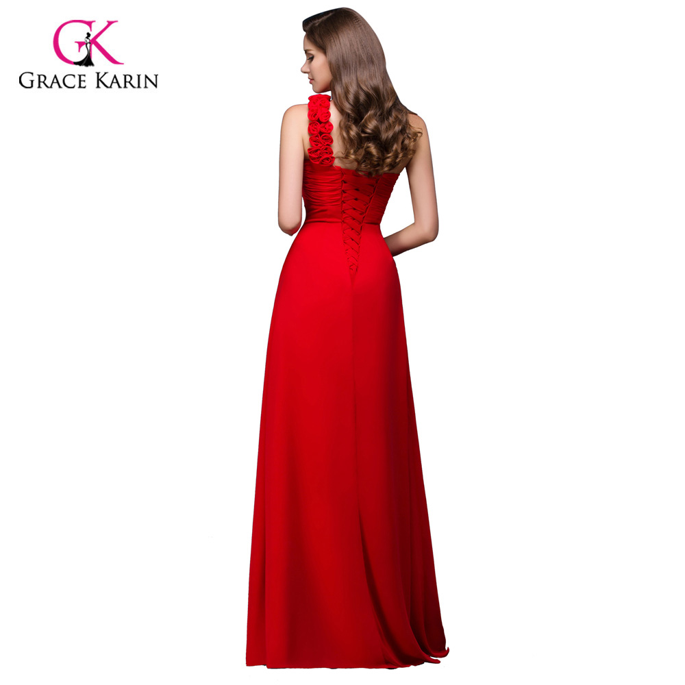 Wedding Cheap Bridesmaid Dresses Under 50 Plus Size Yellow Red One Shoulder  Chiffon Junior Long Bridesmaids Prom Dresses 2017 In Bridesmaid Dresses  From ...