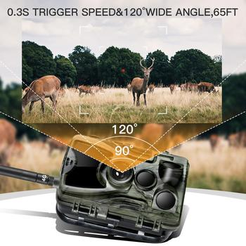 Suntekcam HC-801LTE 4G Hunting Camera 16MP Infrared Camera MMS/SMTP Photo Trap 0.3s Trigger Time 940nm LED Wild Camera PhotoTrap 5