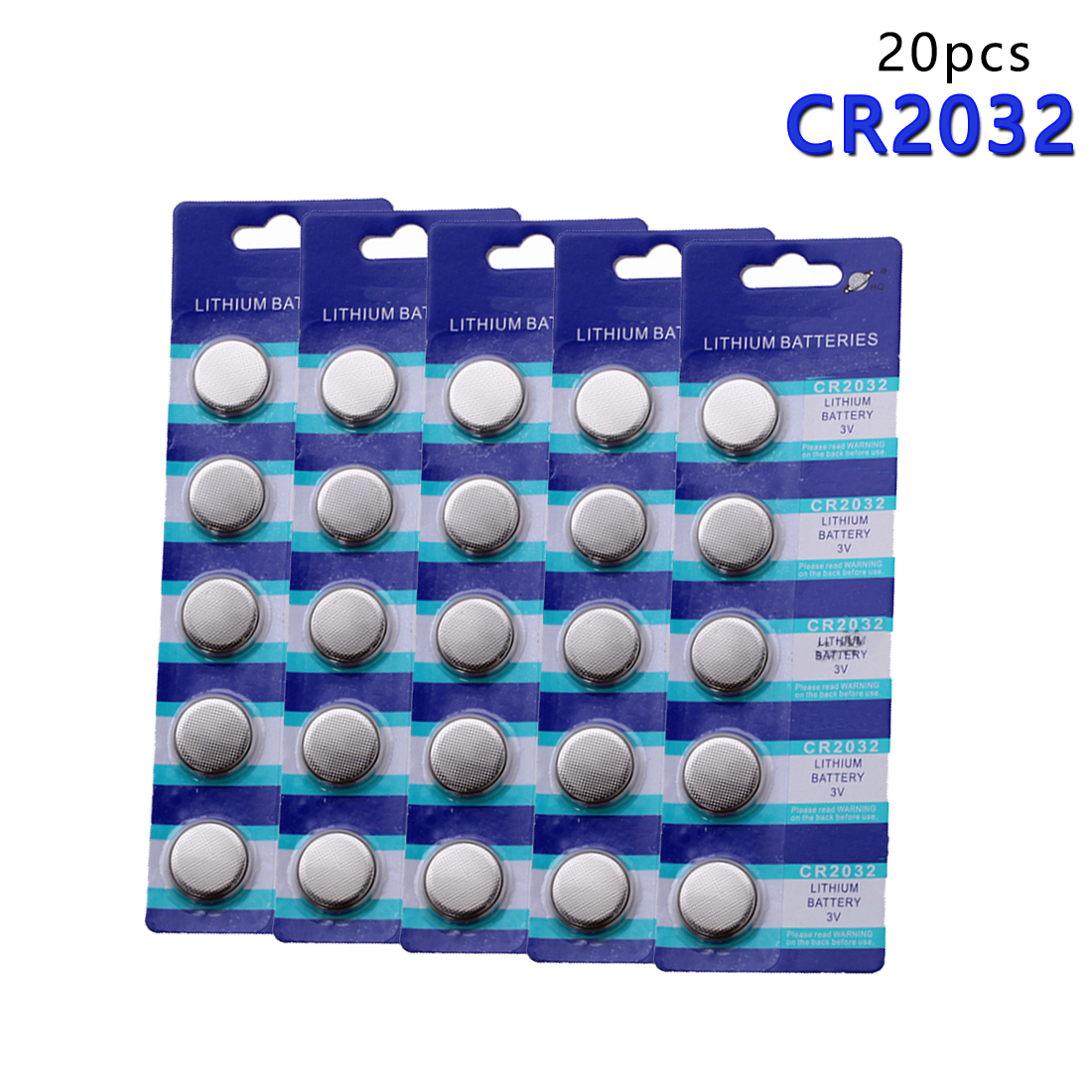 Centechia Top Sale 20pcs Pro CR2032 BR2032 DL2032 SB-T15 EA2032C ECR2032 L2032 CR 2032 Lithium Li-ion 3V Button Coin Battery ...