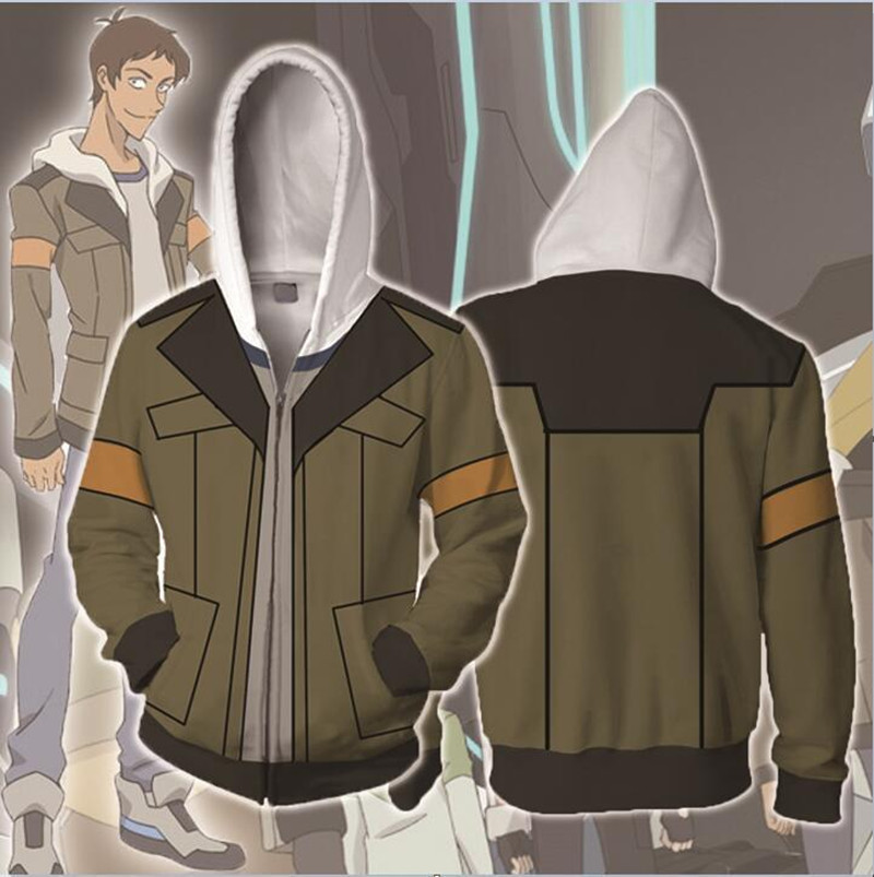 CostumeBuy Voltron Legendary Defender Lance Jacket Halloween Costume Sweater men women Sweatshirts 3D Printing zipper Hoodie