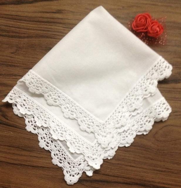 Conjunto de 36 moda damas pañuelos algodón blanco pañuelos de boda ...