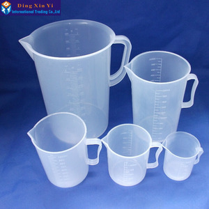Image 3 - 1PC 5000ML plastic measuring lab beaker with handle Clear White Plastic Measuring Cup Beaker