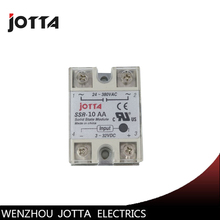 цена на SSR -10AA AC control AC SSR white shell Single phase Solid state relay