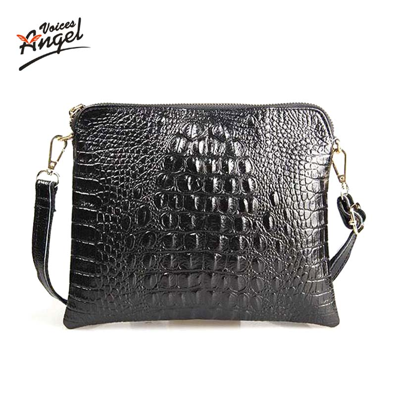 Women Clutch Bags Vintage Split Leather Crocodile Pattern Envelope Shoulder Ladies Small Messenger Handbag Female Gift threaded nema17 stepper w 460mm tr8 12 leadscrew acme leadscrew threaded rod nema17 stepper motor page 1