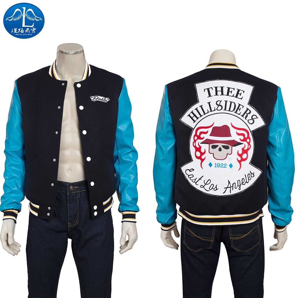 ManLuYunXiao Suicide Squad Cosplay Costume Chato Santana Cosplay Costume Men Leather Jacket Adult Custom Made Free Shipping