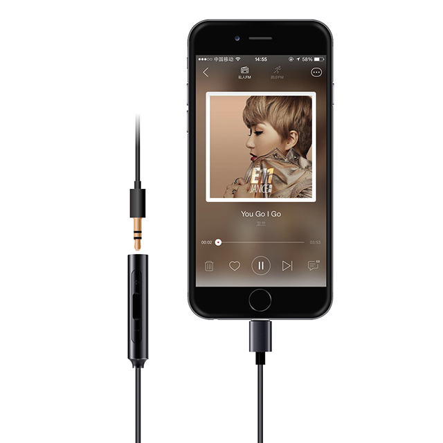 FiiO Amplifier DAC i1 for Apple,iPhone MFI,FiiO 3.5mm to lightning earphone dac i1 improve sound quality 4