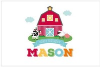 custom farm barn animals large door clouds backdrops High quality Computer print party photography studio background