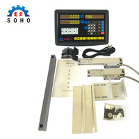 ree shipping high precision instruments lathe & mill 2 axis DRO digital readout with 2 pcs linear glass scales