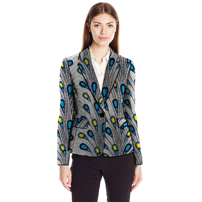 African clothing women's print blazers plus size Ankara fashion suit jackets custom made for wedding female blazer outer coat
