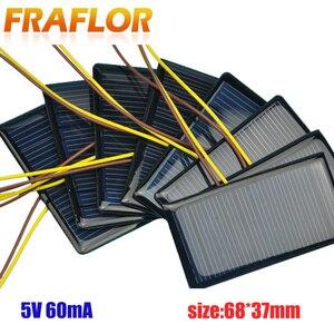 Image 1 - 100 Teile/los 5V 60mA 68*37 Polykristalline Silizium Solar Panel Solarzelle Placa Solar 5V Batterie DIY panneau Solaire Solar Module