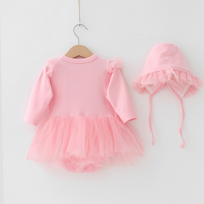 wholesale spring autumn princess organic cotton infant toddler newborn baby girl clothes rompers Sets