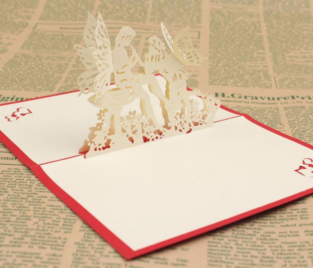 49 stücke 49D Liebe Engel Handgemachte Kirigami Origami Hochzeit ... - 3d Einladungskarten Hochzeit