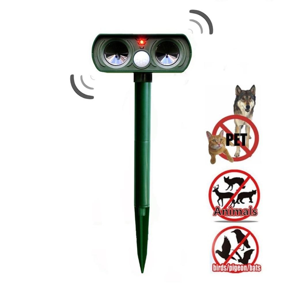 Reject Shop Outdoor Solar Lights: Solar Power Ultrasonic Animal Repeller, Outdoor Waterproof