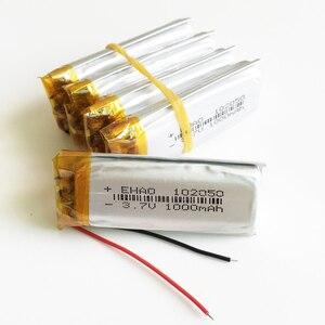5 pcs 1000mAh 3.7V lithium pol