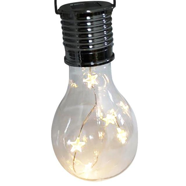 5led Solar Light Bulb Waterproof Ip65 35lm Led Lamp 0 6w Star Garden Blub For Christmas Party Lights Outdoor