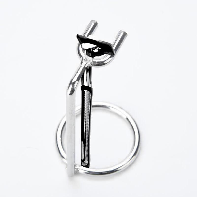 New Men Art Stainless Steel Safety Razor Stand Double Edge Razor Metal Holder  M02415