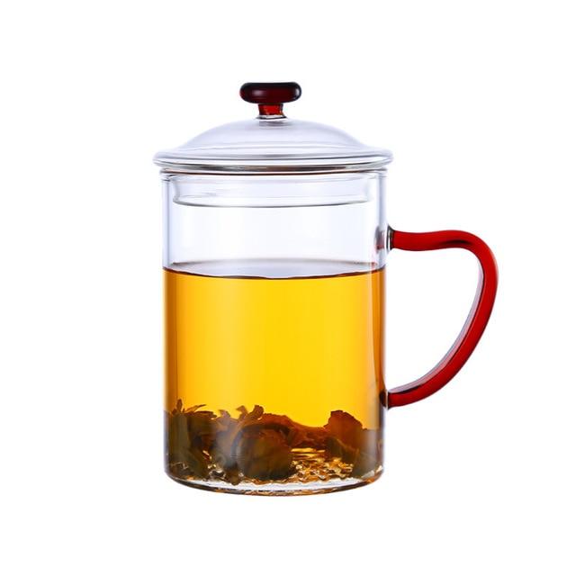 400ml large capacity thick glass tea cup tea mug new office cup