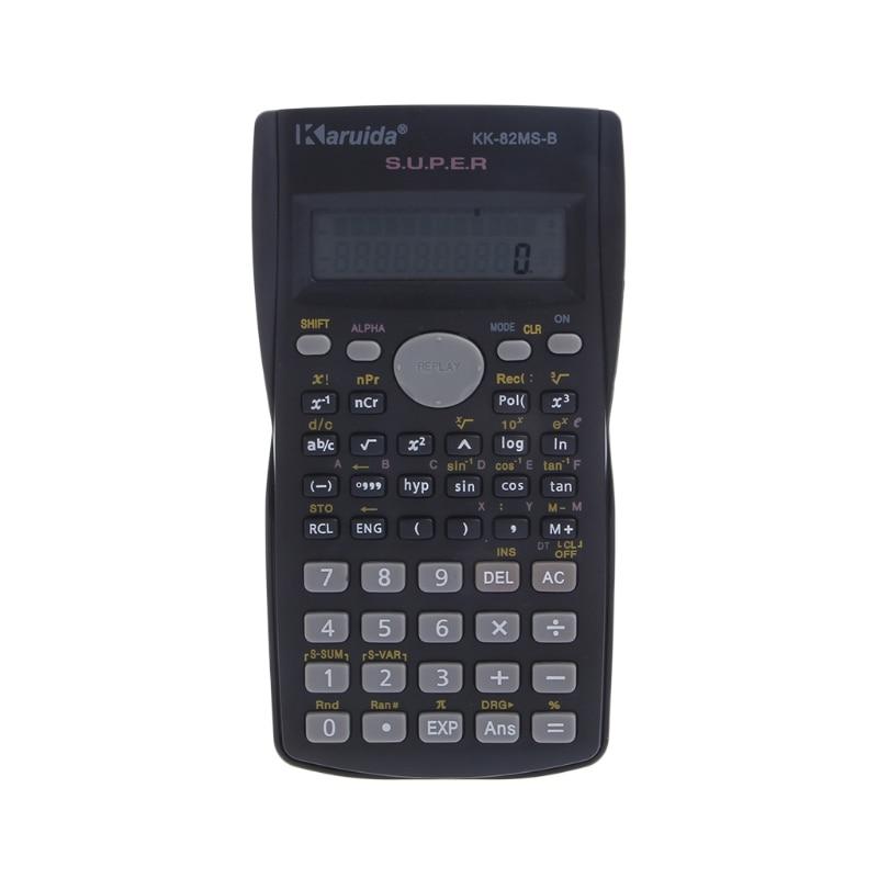Multifunzionale Scientific 2 Display LCD Calcolatrice Calcolatrice funzionale portatile 240 funzioni Nero