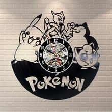 Buy light wall clock and get free shipping on aliexpress pokemon led lighting vinyl wall clocks cute cartoon fairy aloadofball Images