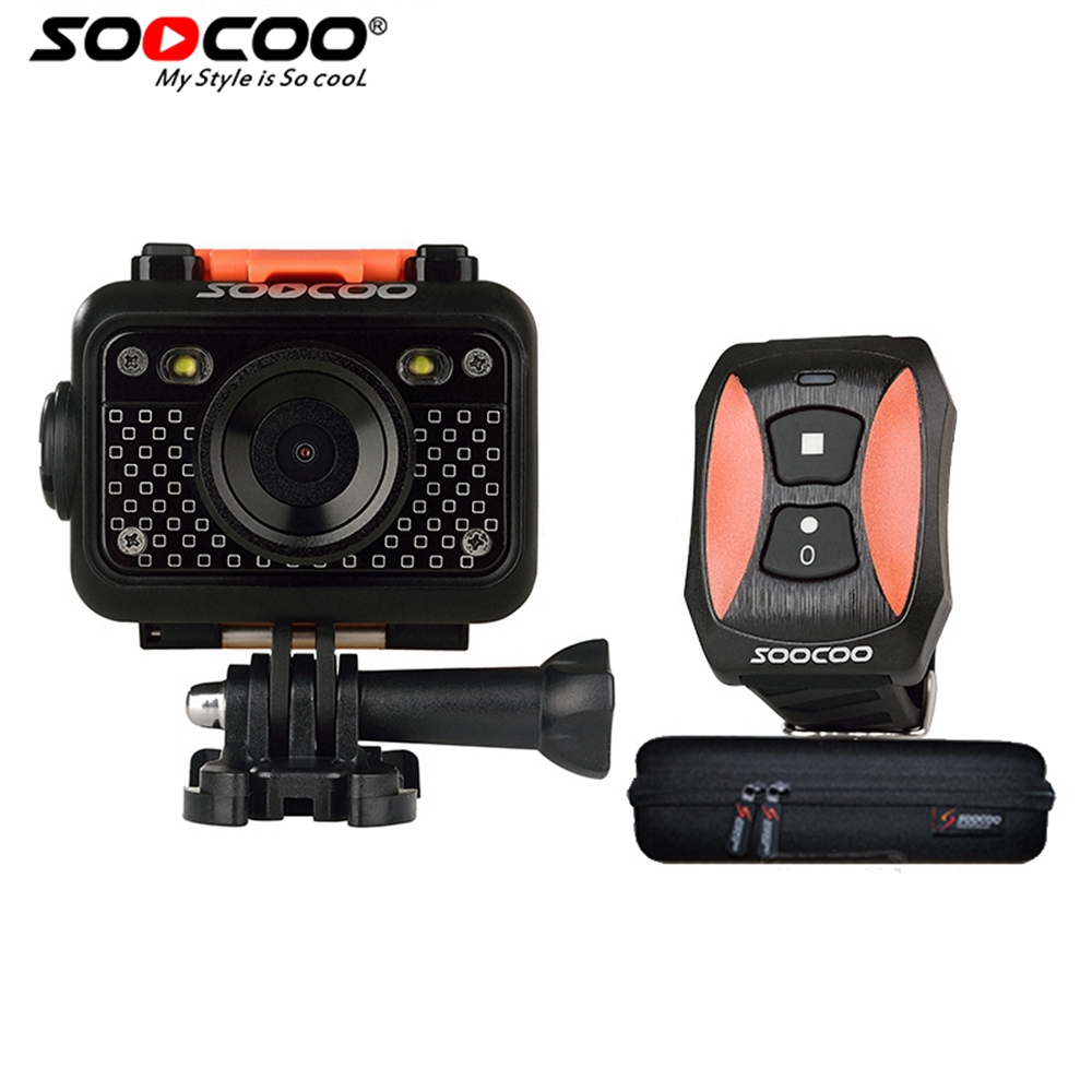 цена на RU Local Delivery SOOCOO S60B 1080P Sports Action Camera Waterproof 30m Wifi Full HD 170 Degree Lens with Remote Control