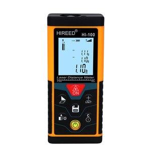 Image 2 - HIREED telémetro Digital trena 40M, 120M, 100M, dispositivo de medida de construcción, medidor de distancia láser de prueba