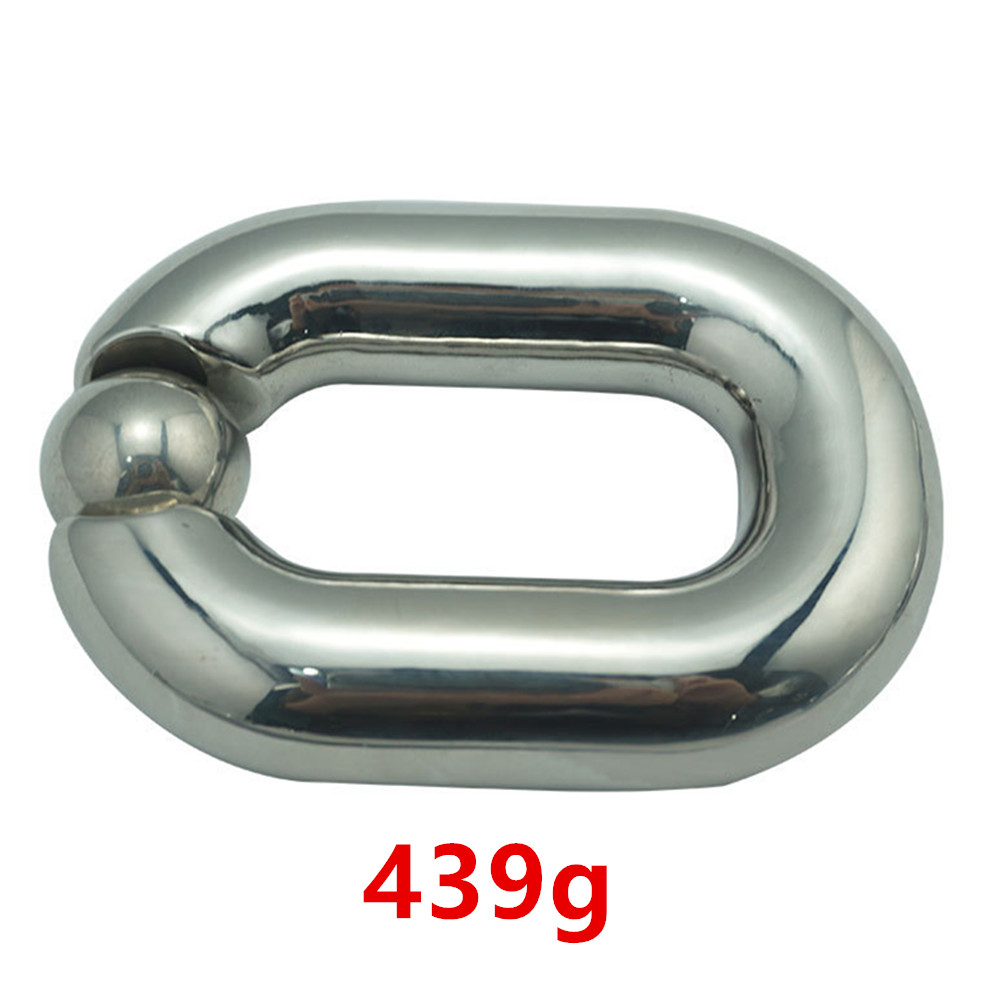 Heavy Ball Stretcher Scrotal Bondage Stainless Steel Metal Cock Cage Penis Ring Male Chastity Devices Fetish Sex Toys For Men sex shop small male penis confinement chastity cage metal cock ring cockring chastity belt toy sex toys for men free shipping