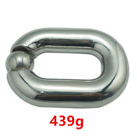 Heavy Ball Stretcher Scrotal Bondage Stainless Steel Metal Cock Cage Penis Ring Male Chastity Devices Fetish