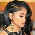 Brazilian virgin hair with closure queenhair body wavy 3 bundles with closure natural black wet and wavy human hair with closure