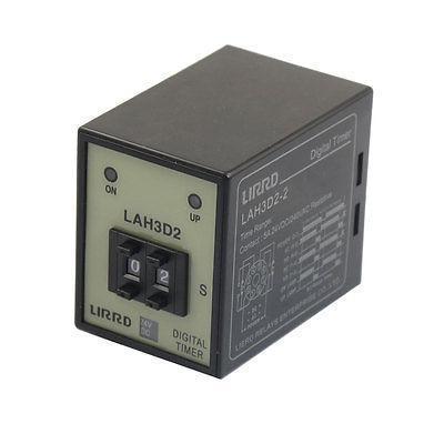 Подробнее о DC 24V 0-99s Digital Display Time Relay 2NO 2NC LAH3D2-2 signal relay agy2324 ds2y s 24v ds2y s 24 v agy2324