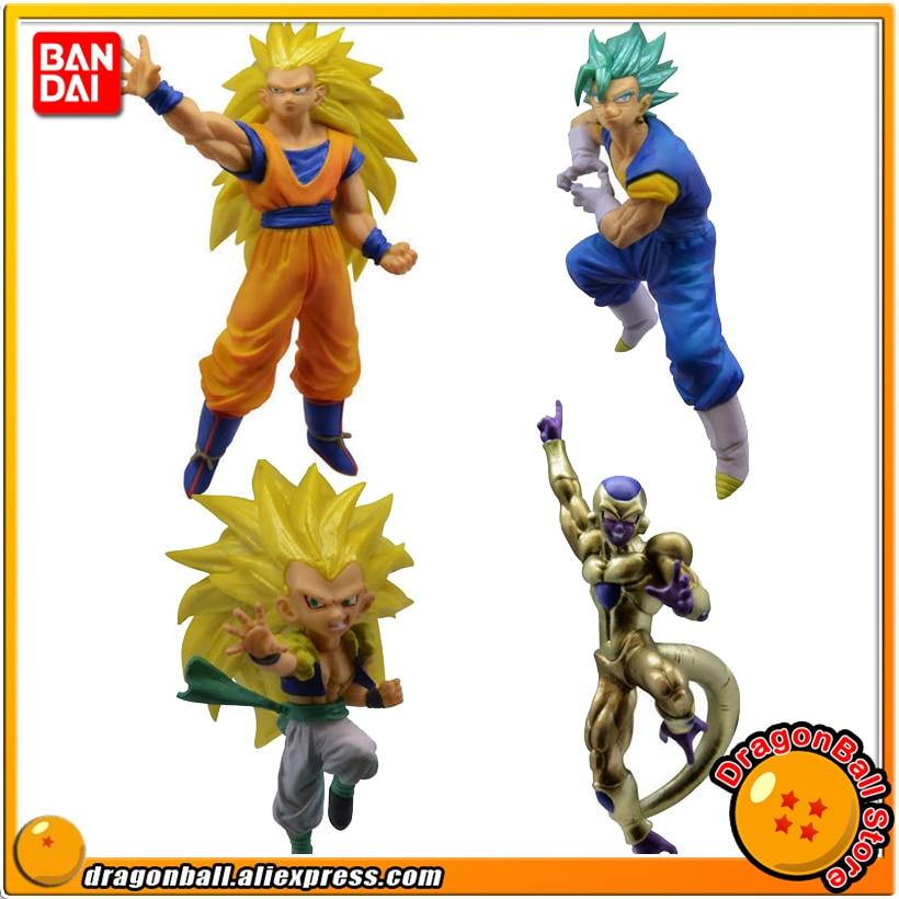 """Dragon Ball SUPER"" Original BANDAI Gashapon Figure Battle VS 03   Full Set of 4 Pieces Goku Vegetto Gotenks Freezadragon ball superdragon ballgashapon figures -"