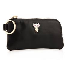 Milesi marque d'origine véritable cuir femmes porte-clé portefeuille clé de voiture cas multifonction bourse porte-clé sac funda llaves MP237