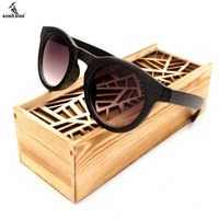 BOBO BIRD Womens Wood Cat Eye Sunglasses Men Cheap Summer Beach Drving Sunglasses In Wood Box