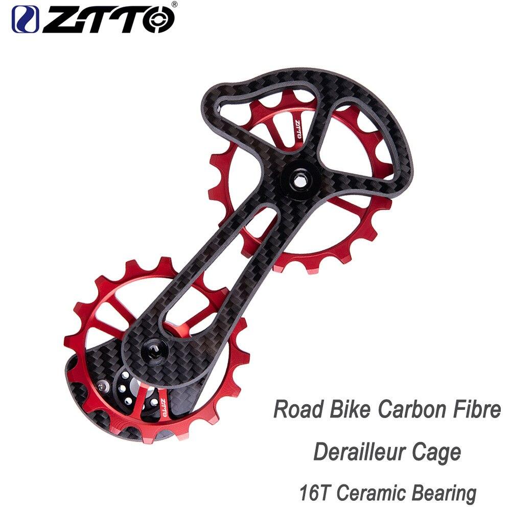 ZTTO vélo de route en fibre de carbone dérailleur Cage avec 16 T en céramique Jockey roue surdimensionnée poulie inférieure RD9000 9070 6800 6870 5800 4600