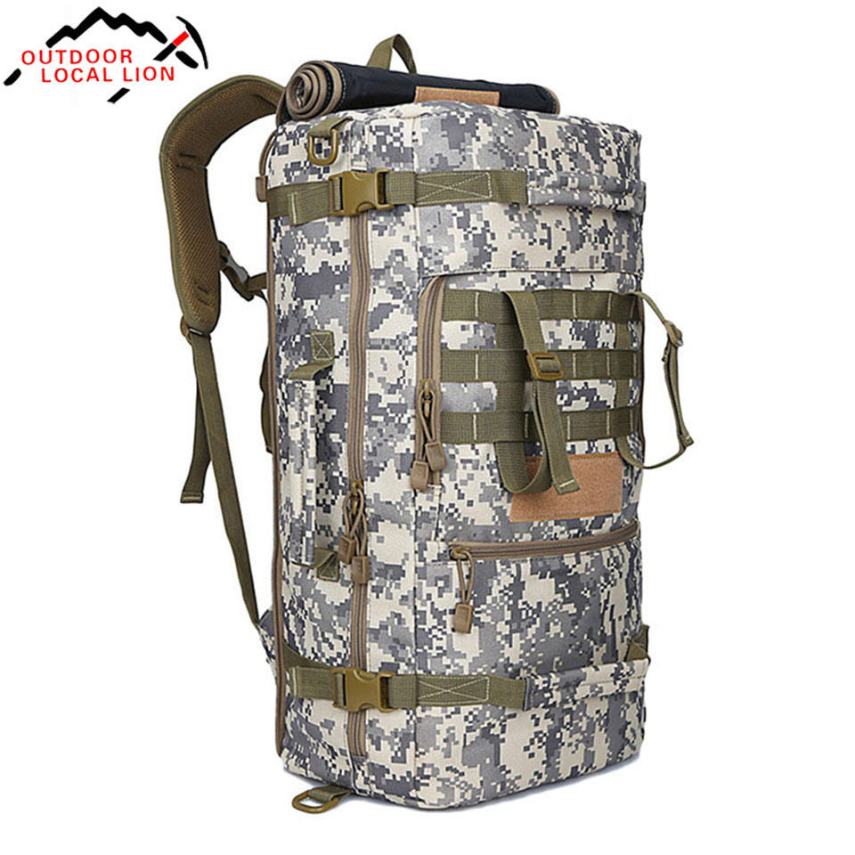 Outdoor Local Lion 50L New Military Tactical Backpack Camping Bags Mountaineering bag Men s Hiking Rucksack