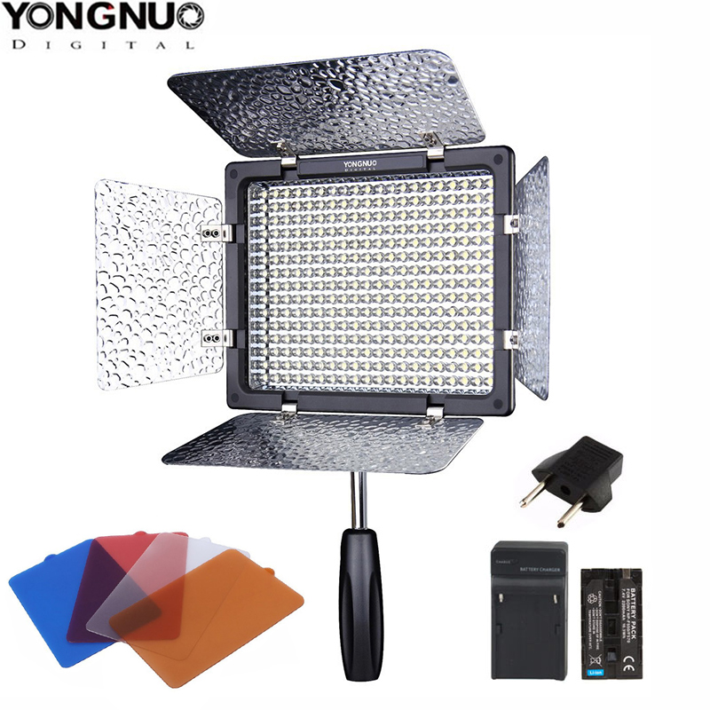Yongnuo YN 300 YN300 II 3200 5500k LED Camera Video Light video photography NP F550 Battery