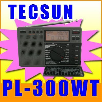 TECSUN PL-300WT WORLD TIME FM STEREO AM SW WORLD BAND DIGITAL SIGNAL PROCESSING RADIO