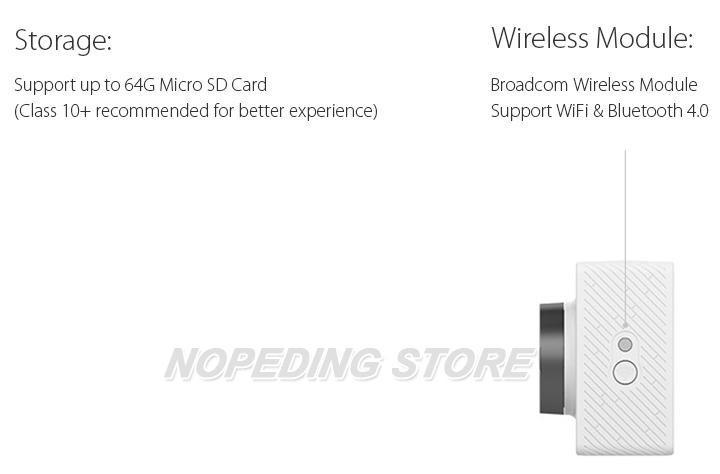 Xiaomi Xiaoyi WiFi Action Camera 16MP 60FPS Ambarella 184850 14