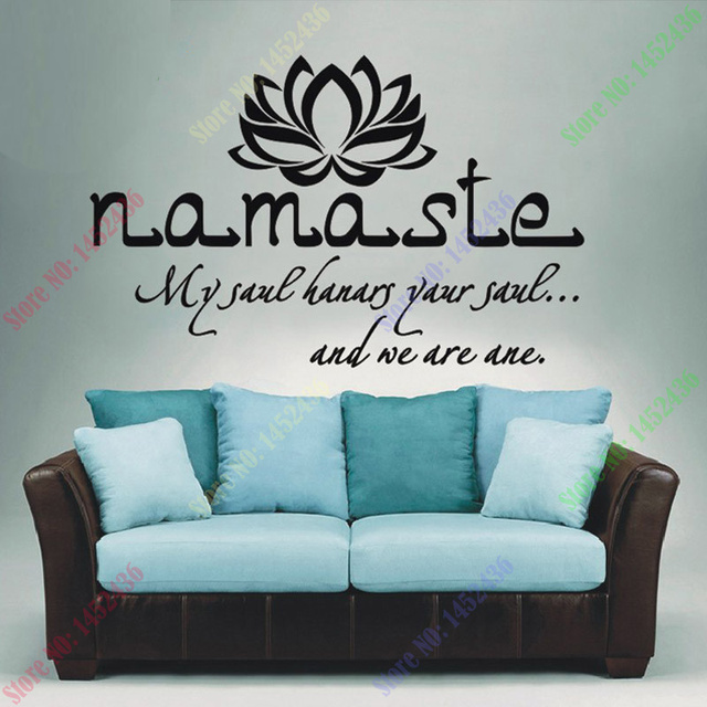 Wall Decals Quotes Vinyl Sticker Decal Buddha Quote Namaste Yoga Mandala Stickers For Living Rooms
