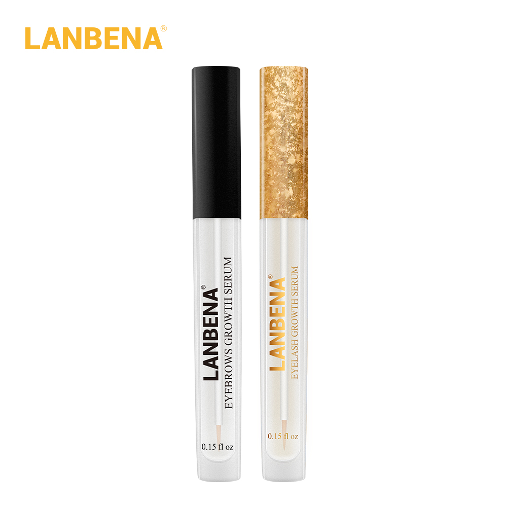 LANBENA Eyebrow Growth Essential Oil+Eyelash Growth Serum 7 Day Eyelash Eyebrow Enhancer Eye Serum Longer Fuller Thicker 2PCS