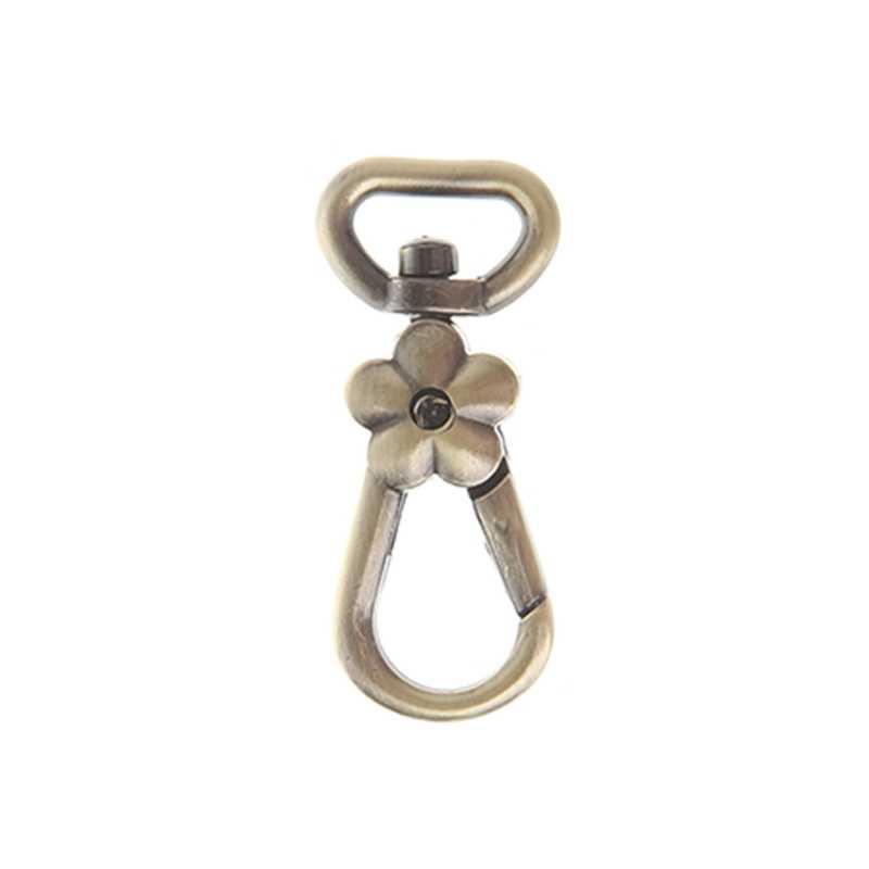 10 шт. пряжка с застежкой-крючком для цепи металлический вращающийся карабин Омаров застежка для сумки части крюк брелок шнур DIY сумка аксессуар