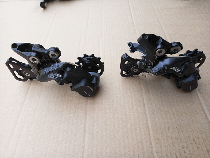 купить SHIMANO DEORE XT RD M8000 Long & Middle Cage 11S Speed Rear Derailleur Shadow + / Locking Button недорого