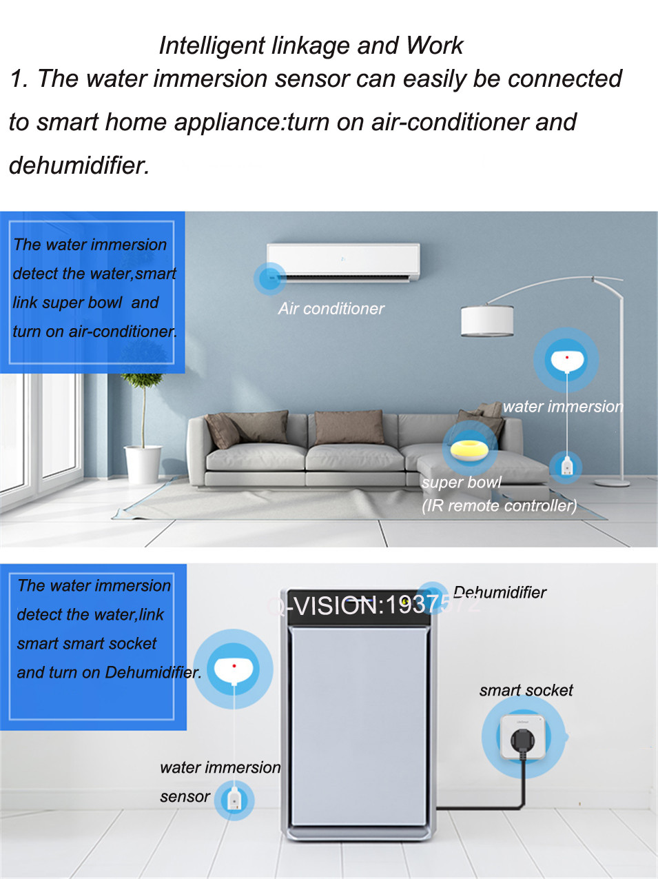 LifeSmart Water Immersion Sensor Home Prevent Water Leakage Overflow Two-way Alarm Realtime Monitor Smart Home Sensor by Phone-6
