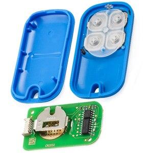 Image 2 - KEYECU XHORSE (גרסה אנגלית) ססגוניות 4 כפתור אוניברסלי מרחוק מפתח Fob עבור VVDI מפתח כלי VVDI2 צהוב/Blu/שחור