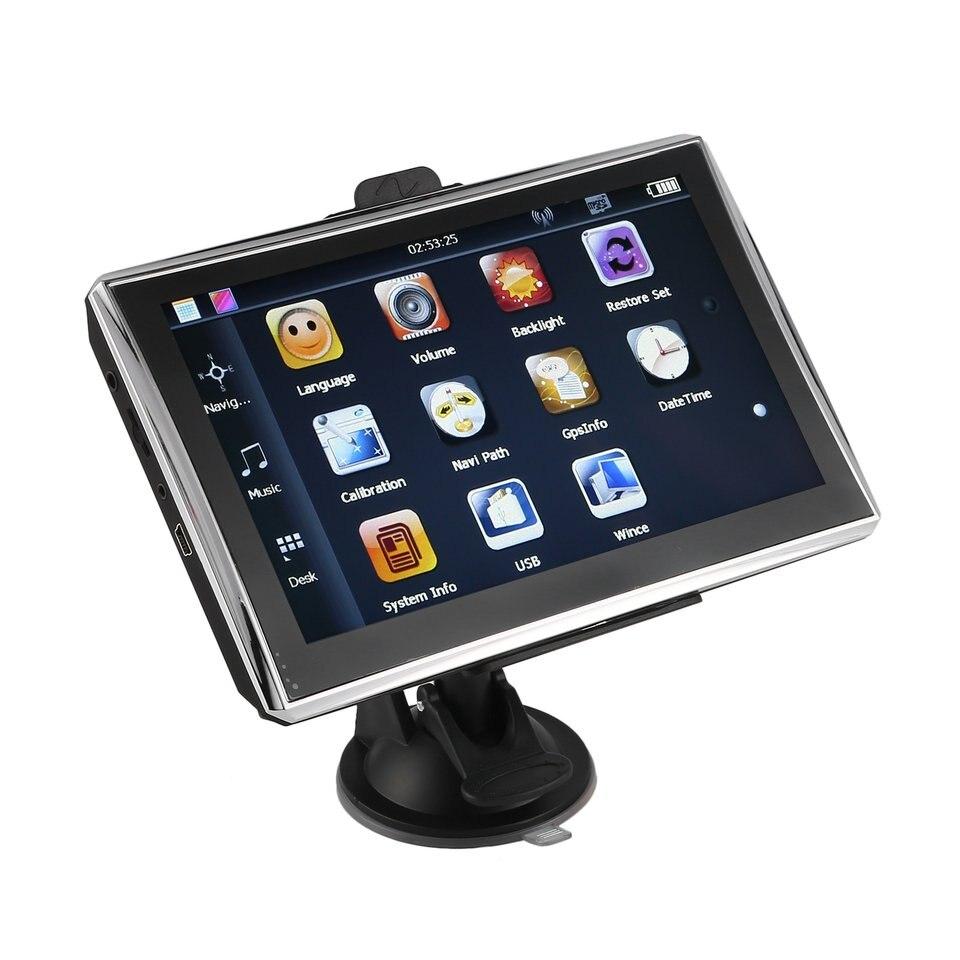 "X7 7 ""автомобиль грузовик GPS навигации 256 м + 8 ГБ touch Сенсор fm навигатор точно позиция черный"