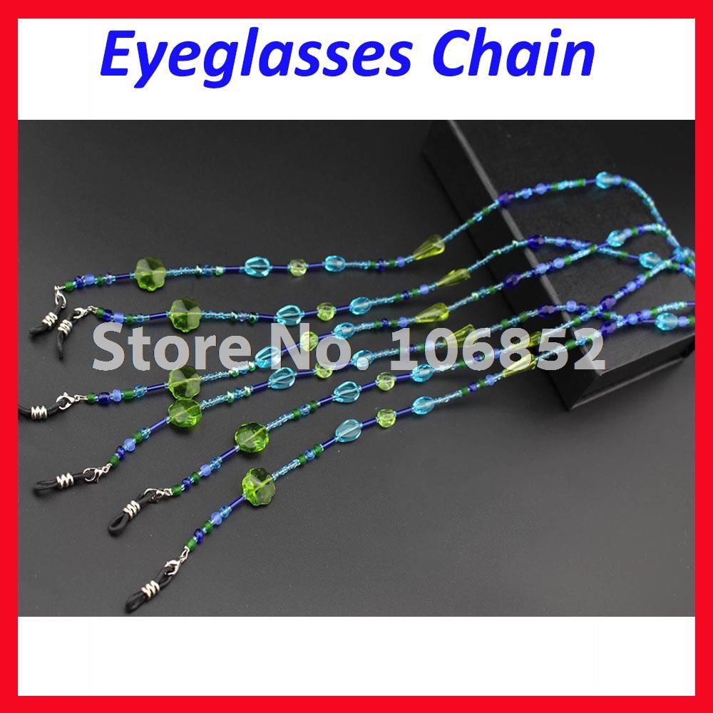 133afc1f4d01b4 5 pcs lot DH008 De Mode Acrylique Remplaçable Astuce Perle Perlée Cou  lunettes de Soleil Lunettes de Lecture Lunettes Chaîne Cordon Corde  Titulaire