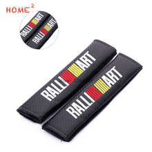 цена на Car Seat Safety Belt Cover for RALLIART Logo Belts Padding for Mitsubishi Outlander ASX L200 Galant Lancer 10 Colt Car Styling