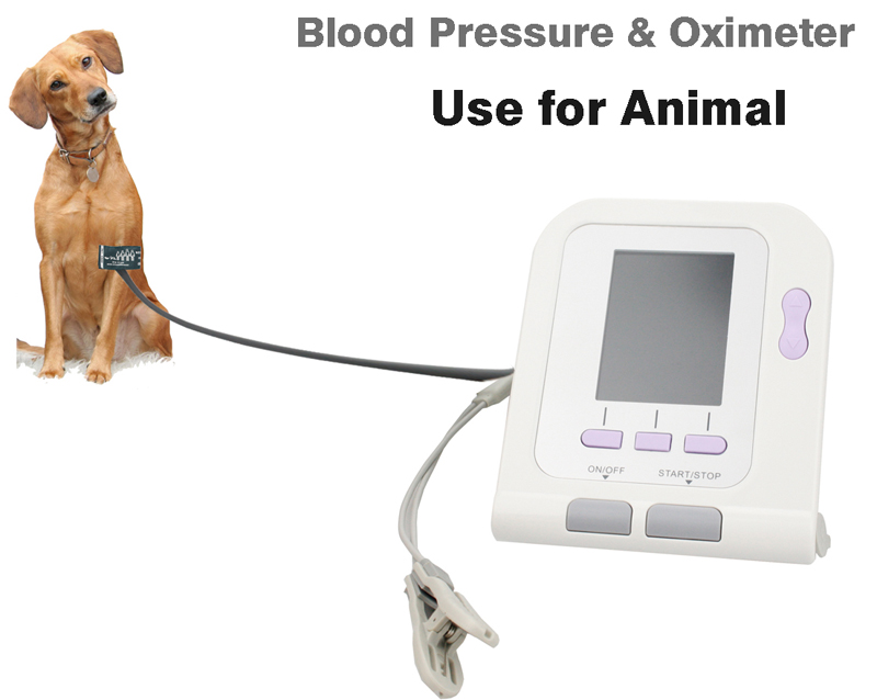 Digital Veterinary NIBP Blood Pressure Monitor with SPO2 Probe (option )for VET CONTEC08A free shipping contec08c with adult spo2 sensor vet blood pressure monitor sphygmomanometer digital automatic nibp