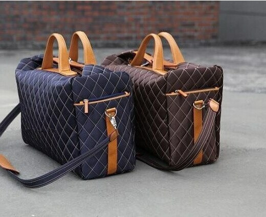 2017 Lozenge male Bags Women Duffel Bag Man Luggage Leather Luxury ...